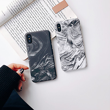 voordelige iPhone X hoesjes-hoesje Voor Apple iPhone XS / iPhone XR / iPhone XS Max Glow in the dark / Ultradun / Patroon Achterkant Marmer TPU