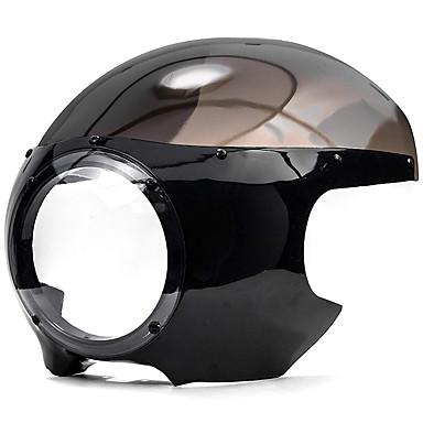 Недорогие Фары для мотоциклов-для Harley Dyna Sportster 883 1200 черный 5 3/4 гонщик фар обтекатель