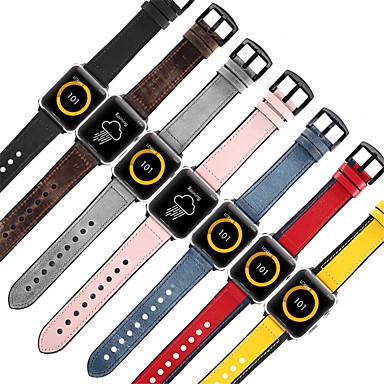 Недорогие Ремешки для Apple Watch-кожаный силиконовый ремешок для яблочных часов серии 4 3 2 1 ремешок для iwatch 44мм / 40мм / 38мм / 42мм браслет умные аксессуары замена запястья