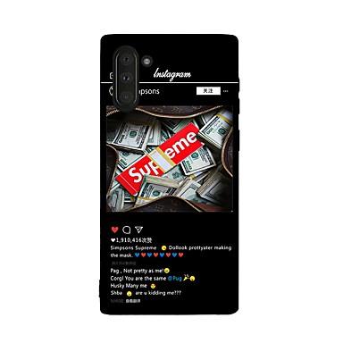 voordelige Galaxy Note-serie hoesjes / covers-hoesje Voor Samsung Galaxy Galaxy Note 10 / Galaxy Note 10 Plus Schokbestendig Achterkant Woord / tekst TPU