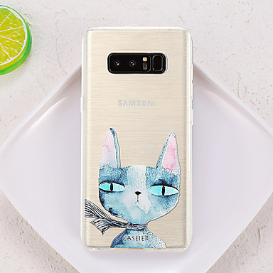 Недорогие Чехлы и кейсы для Galaxy S6 Edge-Кейс для Назначение SSamsung Galaxy S8 Plus / S8 / S7 edge Водонепроницаемый / Защита от пыли / Полупрозрачный Кейс на заднюю панель Кот ТПУ