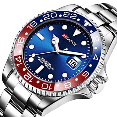 ieftine Ceasuri din Oțel Inoxidabil-Bărbați Oțel Inoxidabil Quartz Oțel inoxidabil 30 m Rezistent la Apă Calendar Model nou Analog - Digital Casual - Negru Verde Albastru piscină Doi ani Durată de Viaţă Baterie