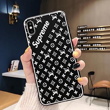 voordelige iPhone 6 Plus hoesjes-hoesje Voor Apple iPhone XS / iPhone XR / iPhone XS Max Ultradun / Patroon Achterkant Woord / tekst TPU