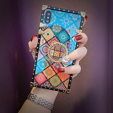 voordelige Galaxy Note-serie hoesjes / covers-hoesje voor samsung galaxy s9 / s9 plus / s8 plus / s8 / s10 / s10 plus / s10e / note 8 / note 9 / m20 / m30 schokbestendig / ringhouder / patroon achterkant geometrisch patroon metaal