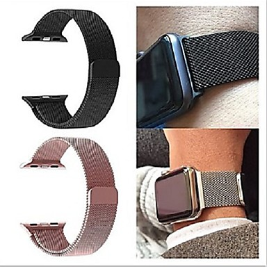 cheap Smartwatch Accessories-Milanese Loop band For Apple Watch Strap iWatch 4/3/2/1 38mm 40mm 42mm 44mm