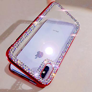 voordelige iPhone 6 Plus hoesjes-hoesje Voor Apple iPhone XS / iPhone XR / iPhone XS Max Strass / DHZ Volledig hoesje Glitterglans Gehard glas / Aluminium