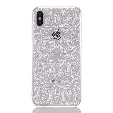voordelige iPhone-hoesjes-hoesje voor Apple iPhone 8 plus / iPhone 6s plus schokbestendig / transparant / patroon achterkant bloem zacht TPU voor iPhone XS / XR / XS Max / X / 5 / 5S / SE / 6/7 Plus / 8