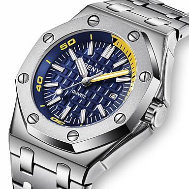 Недорогие Часы на металлическом ремешке-Benyar новые часы мужской моды календарь кварцевые часы5123m