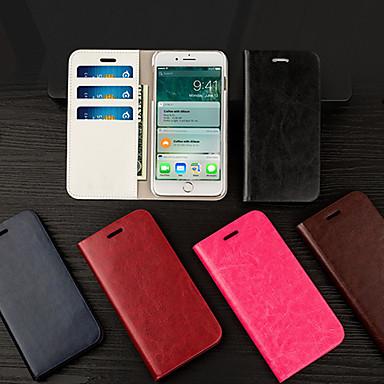 voordelige Galaxy S-serie hoesjes / covers-Musubo flip-kaarthouder lederen telefoonhoes voor Apple iPhone 7 Plus / iPhone 8 Plus / iPhone XS / iPhone X / iPhone 6 / 6S / iPhone XR / iPhone XS Max behuizing voor iPhone 5 / 5s / SE / 8/7/6 plus