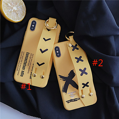 voordelige iPhone 6 hoesjes-hoesje voor Apple iPhone XS Max / iPhone 8 plus stofdicht / armband / patroon achterkant woord / zin soft TPU voor iPhone 7/7 plus / 8/6/6 plus / xr / x / xs