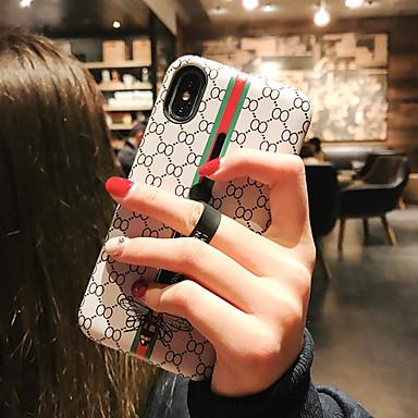voordelige iPhone-hoesjes-hoesje voor apple iphone xs / iphone xr / iphone xs max stofdicht / met standaard / patroon achterkant lijnen / golven / cartoon pc