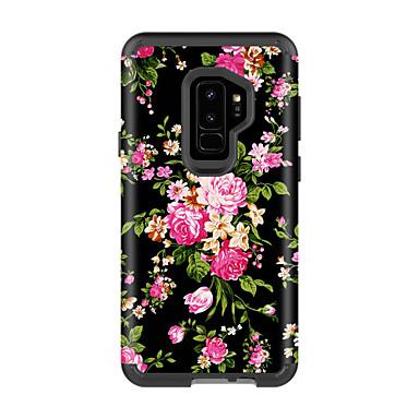 voordelige Galaxy S-serie hoesjes / covers-hoesje Voor Samsung Galaxy S9 / S9 Plus Schokbestendig / Waterbestendig Achterkant Landschap / Bloem PC / silica Gel