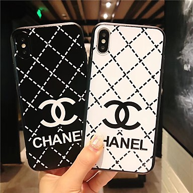 voordelige iPhone 6 hoesjes-hoesje Voor Apple iPhone XS / iPhone XR / iPhone XS Max Ultradun / Patroon Achterkant Woord / tekst / Geometrisch patroon TPU