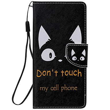 cheap Galaxy Note 4 Cases / Covers-Case For Samsung Galaxy Note 9 / Note 8 / Note 5 Wallet / Card Holder / with Stand Full Body Cases Cat PU Leather  For Samsung Galaxy Note 10/Note 10 Plus/Note 4