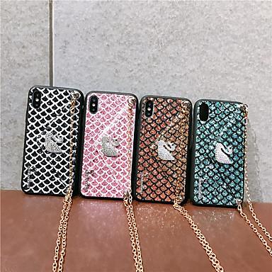 voordelige iPhone 6 hoesjes-hoesje voor appel van toepassing op 11/11 pro / 11 pro max / xs max strass zwaan xr vier zijden x / xs beschermhoes 6/7/8 / 6plus / 7plus / 8plus diagonale mobiele schaal