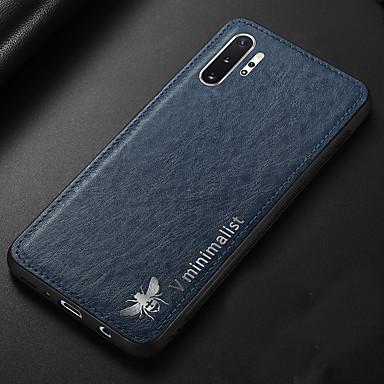 voordelige Galaxy Note-serie hoesjes / covers-hoesje Voor Samsung Galaxy Note 9 / Note 8 / Galaxy Note 10 Ultradun Achterkant Effen PU-nahka / TPU