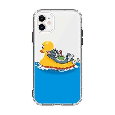 voordelige iPhone-hoesjes-hoesje Voor Apple iPhone 11 / iPhone 11 Pro / iPhone 11 Pro Max Ultradun / Transparant / Patroon Achterkant Transparant / Cartoon TPU