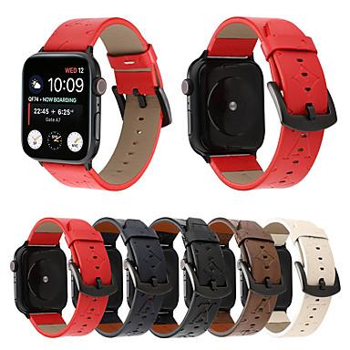 voordelige Apple Watch-bandjes-luxe lederen armband armband voor Apple horlogeband 44mm / 40mm / 42mm / 38mm dames / heren horloges polsband voor iwatch-serie 4 3 2 1