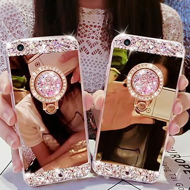 voordelige Galaxy Note-serie hoesjes / covers-hoesje voor Samsung Galaxy Note 9 / Note 8 / Note 5 / Note10pro / Note10 Strass / ringhouder / spiegel achterkant effen acryl