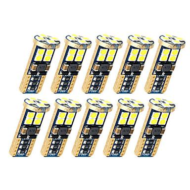 voordelige Autobinnenverlichting-10 stks t10 auto gloeilampen 5 w smd 3030 12 led kentekenverlichting / werklampen / achterlichten voor universele alle jaar
