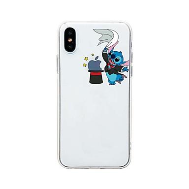 voordelige iPhone 6 Plus hoesjes-hoesje Voor Apple iPhone XS / iPhone XR / iPhone XS Max Ultradun / Transparant / Patroon Achterkant Spelen met Apple-logo / Transparant / Cartoon TPU