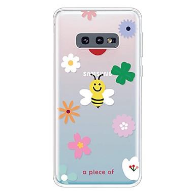 voordelige Galaxy S-serie hoesjes / covers-hoesje Voor Samsung Galaxy Galaxy S10 / Galaxy S10 Plus / Galaxy S10 E Ultradun / Transparant / Patroon Achterkant Cartoon TPU