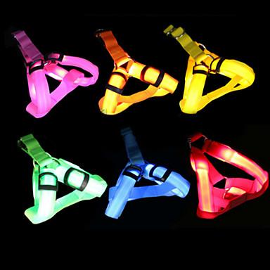 ieftine Câini Gulere, hamuri și Curelușe-Câine Hamuri Lumini LED Ajustabile / Retractabil Mată Nailon Verde Albastru Roz