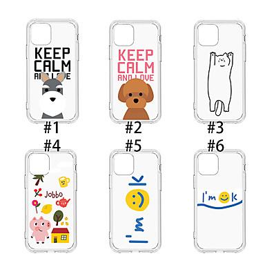 voordelige iPhone X hoesjes-hoesje Voor Apple iPhone 11 / iPhone 11 Pro / iPhone 11 Pro Max Stofbestendig / Patroon Achterkant Kat / Hond / Transparant TPU