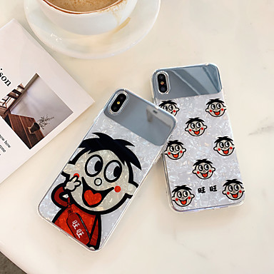 voordelige iPhone 6 hoesjes-hoesje Voor Apple iPhone XS / iPhone XR / iPhone XS Max Spiegel / Ultradun / Patroon Achterkant Cartoon silica Gel