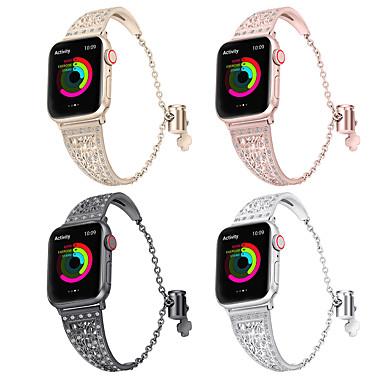 billige Apple Watch urremme-urbånd til apple watch serie 4/3/2/1 æble smykkedesign rustfrit stål armbånd