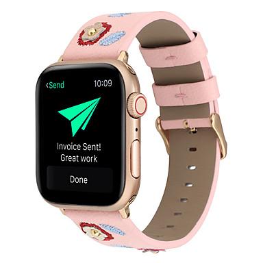 voordelige Apple Watch-bandjes-geschikt voor apple smart watch apple iwatch 1/2/3/4 38 mm / 40 mm / 42 mm / 44 mm s-style creatieve geborduurde lederen horlogeband