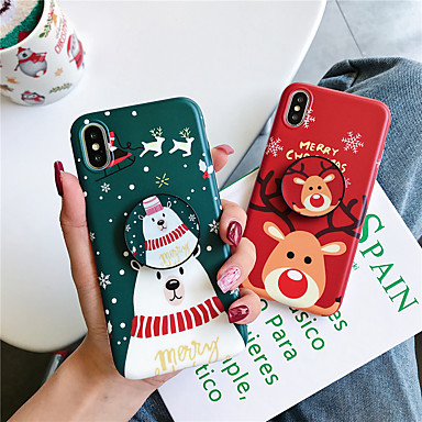 voordelige iPhone 7 hoesjes-hoesje Voor Apple iPhone 11 / iPhone 11 Pro / iPhone 11 Pro Max met standaard / Patroon Achterkant Kerstmis TPU