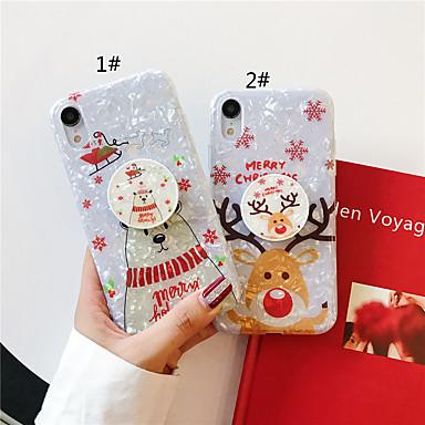voordelige iPhone 7 hoesjes-hoesje Voor Apple iPhone 11 / iPhone 11 Pro / iPhone 11 Pro Max met standaard / Patroon / Glitterglans Achterkant Kerstmis TPU