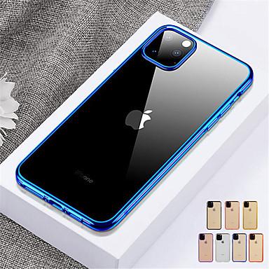 voordelige iPhone X hoesjes-hoesje Voor Apple iPhone 11 / iPhone 11 Pro / iPhone 11 Pro Max Schokbestendig / Doorzichtig Achterkant Effen TPU