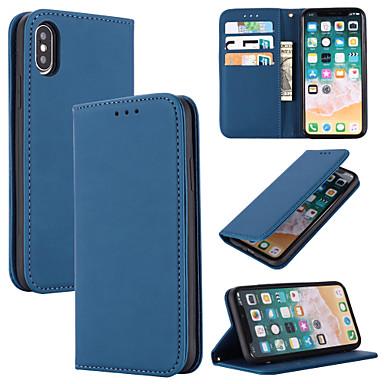 voordelige iPhone 7 hoesjes-hoesje Voor Apple iPhone 11 / iPhone 11 Pro / iPhone 11 Pro Max Kaarthouder Volledig hoesje Effen aitoa nahkaa