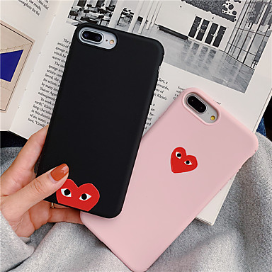 voordelige iPhone 7 hoesjes-effen kleuren hart TPU hoesje voor Apple iPhone 11 pro max 8 plus 7 plus 6 plus max patroon achterkant