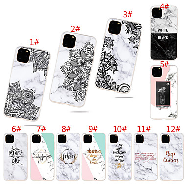 voordelige iPhone 7 hoesjes-hoesje voor Apple iPhone 11 / iPhone 11 Pro / iPhone 11 Pro Max Frost / Patroon Achterkant Marmer TPU voor iPhone XR XS Max X XS 7 8 7plus 8plus 6 6 plus 6s 6splus