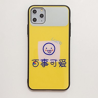 voordelige iPhone 6 hoesjes-hoesje Voor Apple iPhone 11 / iPhone 11 Pro / iPhone 11 Pro Max Schokbestendig / Spiegel / Ultradun Achterkant Woord / tekst / Cartoon TPU