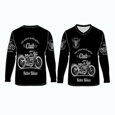 voordelige Motorjacks-old school motorfiets retro fietsen kleding shirts tops jersey voor unisex polyester / polyamide ademend / snel droog