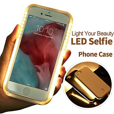 voordelige iPhone-hoesjes-telefoonhoesje multifunctionele led lichtgevende selfie licht beschermhoes voor iPhone 6 / 6s / 6 plus / 7/7 plus instelbare helderheid
