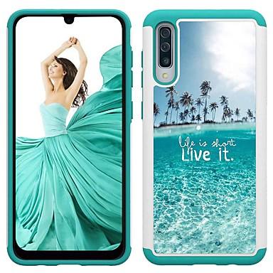 voordelige Galaxy A-serie hoesjes / covers-hoesje Voor Samsung Galaxy A5 (2017) / Galaxy A30 (2019) / Galaxy A50 (2019) Schokbestendig / Patroon Achterkant Landschap PU-nahka