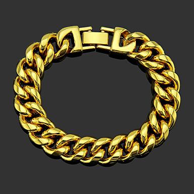 voordelige Heren Armband-Heren Armband XOXO Punk modieus Legering Armband sieraden Goud / Zilver Voor Bruiloft Dagelijks