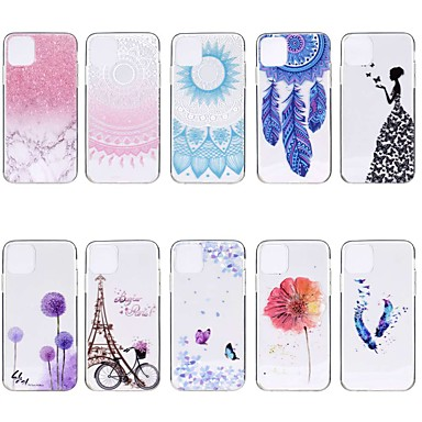 voordelige iPhone X hoesjes-hoesje Voor Apple iPhone 11 / iPhone 11 Pro / iPhone 11 Pro Max Transparant / Patroon Achterkant Vlinder TPU