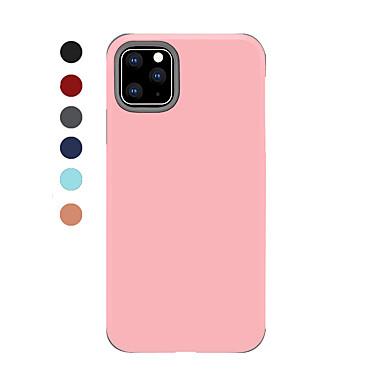 voordelige iPhone-hoesjes-hoesje Voor Apple iPhone 11 / iPhone 11 Pro / iPhone 11 Pro Max Schokbestendig / Ultradun Achterkant Effen / Tegel TPU