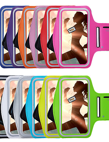 cheap Universal Cases & Bags-Case For iPhone 7 / iPhone 7 Plus / iPhone 6s Plus with Windows / Armband Armband Solid Colored Soft Textile for