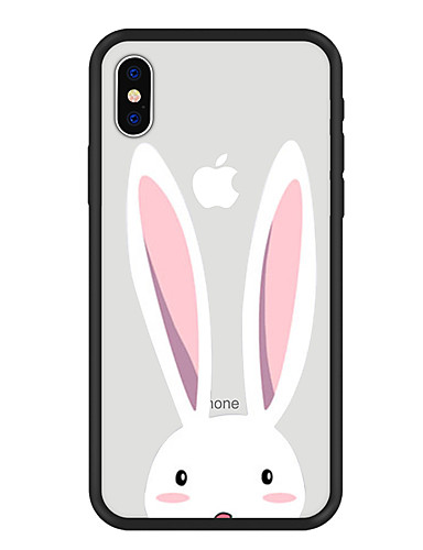 cheap iPhone Cases-Case For Apple iPhone X / iPhone 8 Plus Pattern Back Cover Animal / Cartoon Hard Acrylic for iPhone X / iPhone 8 Plus / iPhone 8