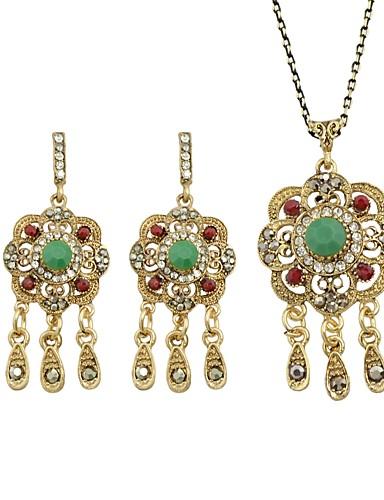 Χαμηλού Κόστους Γυναικεία κοσμήματα-Γυναικεία Cubic Zirconia Τουρμαλίνη  Κοσμήματα Σετ - Λουλούδι κυρίες 31648cc7e6d