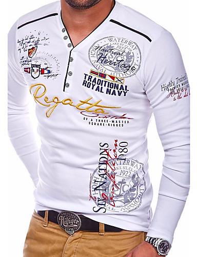Χαμηλού Κόστους Ανδρικά Τοπ-Ανδρικά T-shirt Βασικό Γεωμετρικό