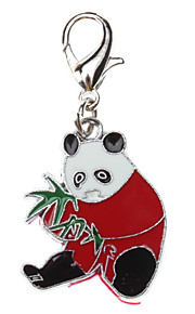 Cat / Dog Tag Panda Red Metal