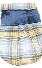 Hund T-shirt Hundekleidung Plaid/Karomuster Gelb Rot Baumwolle Kostüm Für Haustiere Herrn Damen Lässig/Alltäglich